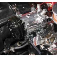 Chevy V-Belt Air Conditioning Compressor, Polished, Sanden,1955-1957