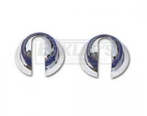 Chevy Tailgate Cable Balls, Original Style Chrome, For Nomad & Wagon, 1955-1957