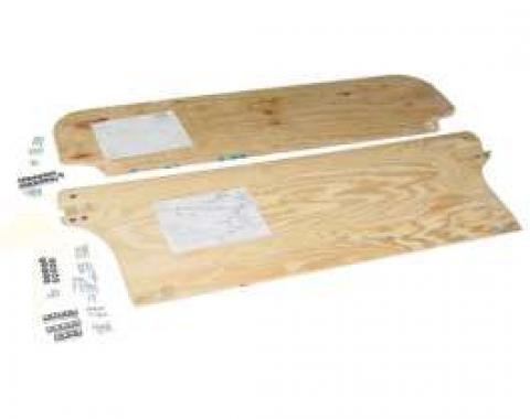 Chevy Rear Seat Plywood Set, With Hardware, Wagon, Nomad, 1955-1957