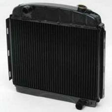 Chevy Desert Cooler Optima Radiator, Copper Core, 6-Cylinder, For Cars With Manual Transmission, U.S. Radiator, 1957