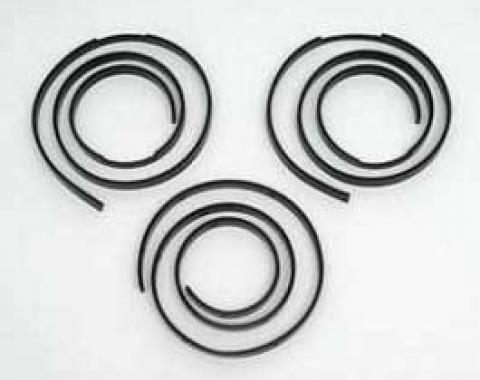 Chevy Convertible Top Header Tack Strip Set, 1955-1957