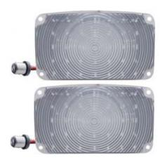 Chevy LED Parking Lights, Front, Plug-In, With Clear Lenses, 1956