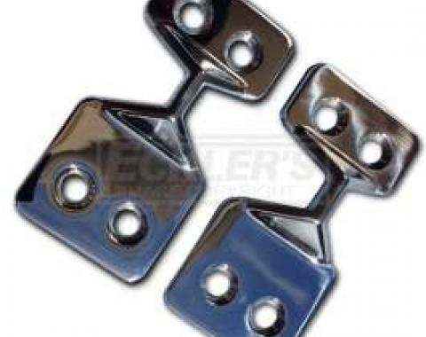 Chevy Tailgate Latch Strikers, Stainless Steel, For Nomad & Wagon, 1955-1957