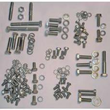 Chevy Engine Bolt Kit, Stainless Steel, 235ci, Use With Aluminum Valve Cover, 1955-1957