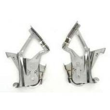 Chevy Hood Hinges, Polished, Stainless Steel, 1957