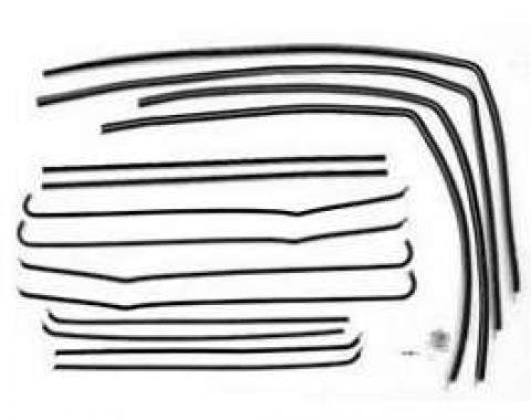 Chevy Window Felt Kit, Bel Air 2-Door Sedan, 1955-1957