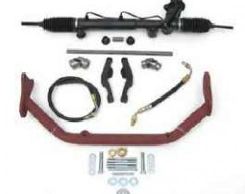Chevy Rack & Pinion Deluxe Steering Kit, Small Block, With ididit Tilt Column & Column Shift, 1955-1957