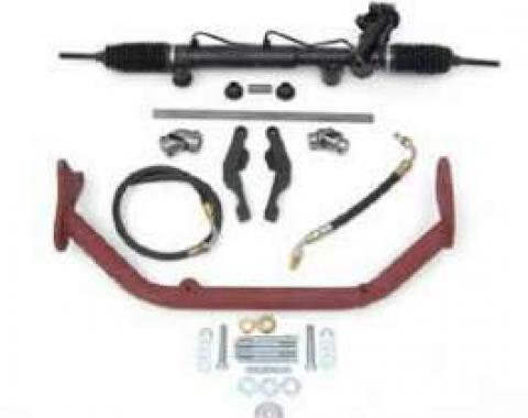 Chevy Rack & Pinion Deluxe Steering Kit, Small Block With ididit Tilt Column & Floor Shift, 1955-1957