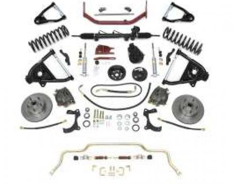 Chevy Complete Independent Front Suspension Kit, Big Block & 2 Lowering Coil Springs, 1955-1957