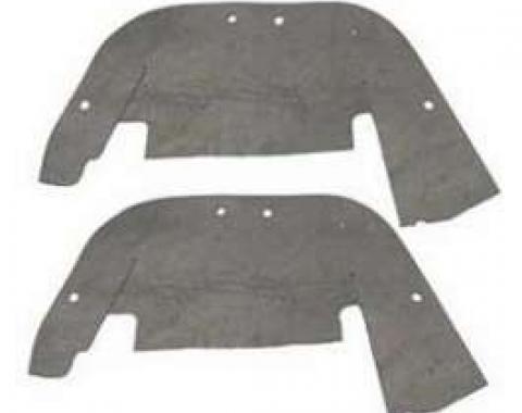 Chevy Control Arm Dust Shields, 1957
