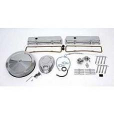 Chevy Engine Dress-Up Kit, Complete, Small Block, Chrome, 1955-1957