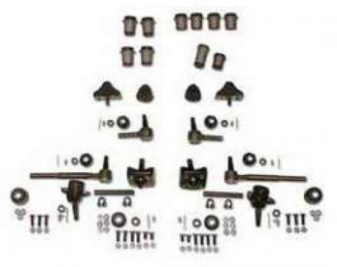 Chevy Front End Rebuild Kit, Except Original Power Steering & Without Coil Springs, 1955-1957