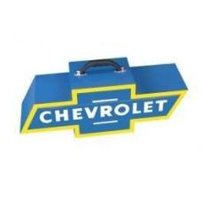 Chevy Bowtie Shaped Portable Tool Box, Blue & Yellow