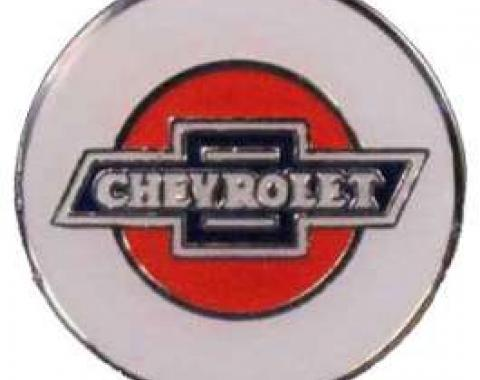 Chevrolet Lapel Pin, Silver & Epoxy Colors