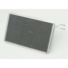 Chevy Cross-Flow Air Conditioning Condenser, Polished Aluminum, Griffin, 1955-1957