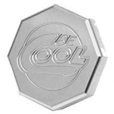 Chevy Radiator Cap, Billet, Octagon, Natural Finish, Be Cool