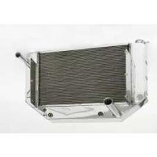 Chevy Cross-Flow Radiator, Polished Aluminum, Griffin, 1955-1957