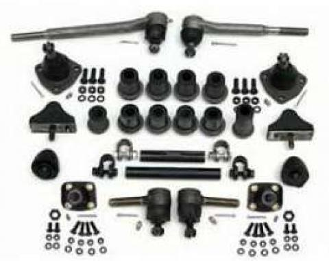 Chevy Front End Rebuild Kit, Without Coil Springs & With Factory Power Steering, 1955-1957