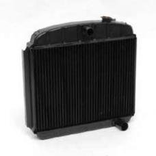 Chevy Radiator, Copper Core, V8 Position, For Cars With Manual Transmission, U.S. Radiator, 1955-1957