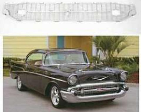 Chevy Grille, Silver, 1957