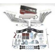 Chevy Big Block Mark IV Installation Kit, Deluxe, TH350, 700R4 Automatic Transmission, With Silver Ceramic Coated Headers, 1955-1957