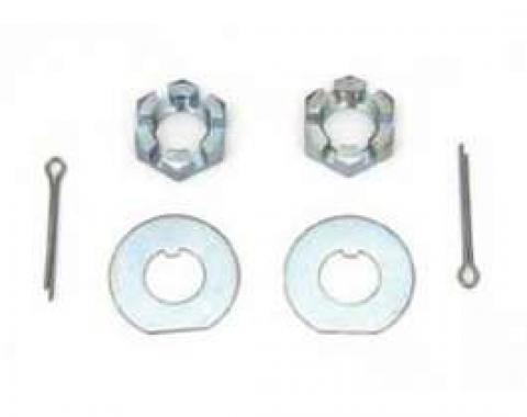 Chevy Deep Cut Spindle Nuts, Washers & Cotter Pins, 1955-1957