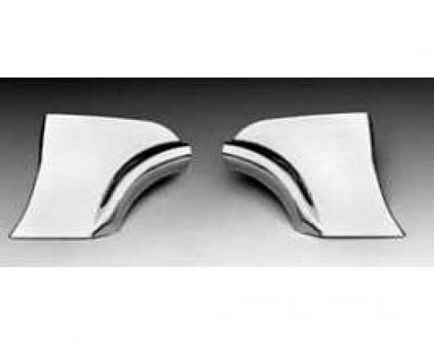 Chevy Fender Skirt Scuff Guards, Stainless Steel, 1956