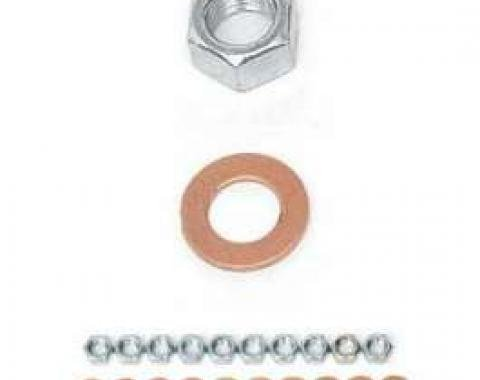 Chevy Rear End Housing Washer & Nut Kit, 1955-1957