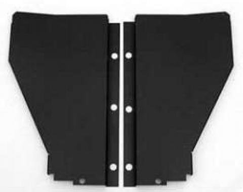 Chevy Radiator Filler Panels, Flat, Carbon Steel, For CCI Tubular Core Support, 1956