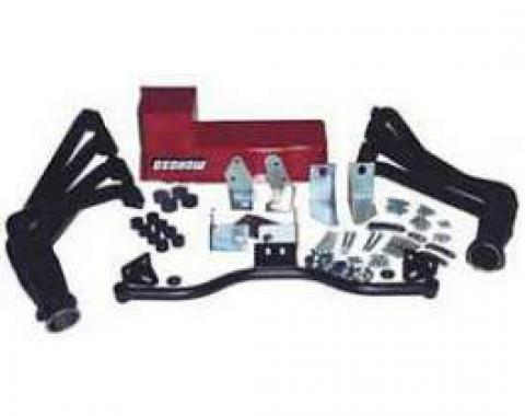 Chevy Big Block Mark V & VI Installation Kit, Deluxe, TH400Automatic Transmission, With Black Painted Headers, 1955-1957