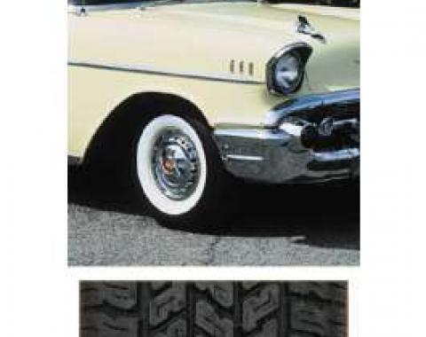 Chevy Tire, P205/75R14, B.F. Goodrich Silvertown Radial, With 2-3/8 Whitewall, 1957