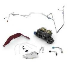 Chevy Non-Power Dual Master Cylinder Conversion Kit, With Disc Brakes, 1956-1957