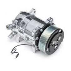 Chevy Air Conditioning Compressor, With Serpentine Drive, Polished, 1955-1957