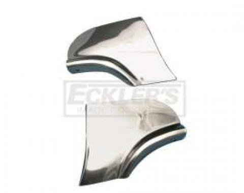 Chevy Fender Skirt Scuff Guards, Stainless Steel, 1957