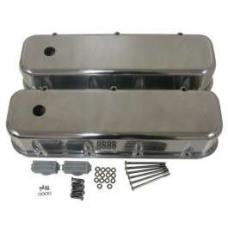 Chevy Big Block Valve Covers, Polished Aluminum, 1955-1957