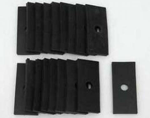 Chevy Pinch Rail Pads, Convertible, 1955-1957