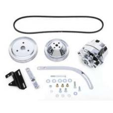 Chevy Alternator Conversion Kit, Small Block, Double Groove Pulleys, For Cars With Short Water Pump & Headers, 1955-1957
