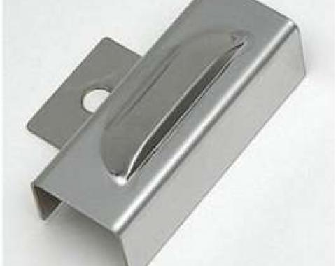 Chevy Firewall Ballast Resistor Cover, Louvered Chrome, 1955-1957