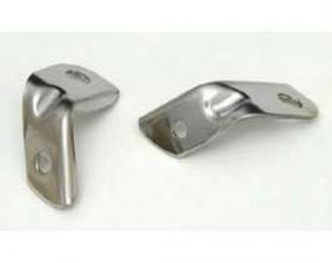 Chevy Grille Tie Bar Angle Brackets, Stainless Steel, 1956