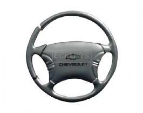 Chevy Key Ring, Satin/Chrome Chevrolet Bowtie Steering Wheel