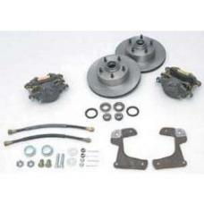 Chevy Front Disc Brake Kit, At The Wheel, 1955-1957