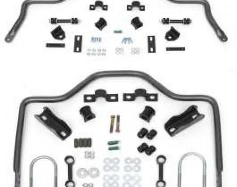 Chevy Anti-Sway Bar Kit, Wagon & Non-Wagon, Front & Rear, Hellwig, 1955-1957