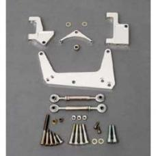 Chevy Air Conditioning & Alternator Bracket, Polished, Small Block, With Short Water Pump, 1955-1957
