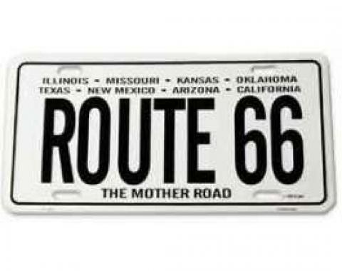 License Plate, Route 66, 8 States