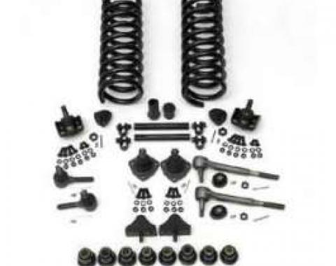 Chevy Front End Rebuild Kit, Non-Power, With Urethane Bushings, 1955-1957