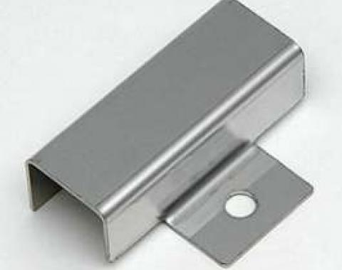 Chevy Firewall Ballast Resistor Cover, Smooth Chrome, 1955-1957