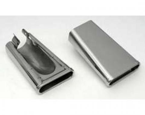 Chevy Exhaust Tips, Stainless Steel, 1955-1956