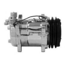 Chevy Air Conditioning Compressor, Chrome, Sanden 508, 134A,V-Belt System, 1955-1957