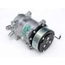 Chevy Air Conditioning Compressor, With Serpentine, Drive, Unpolished, 1955-1957