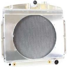 Chevy Radiator, Griffin Tri 5 Universal Fit, Bel Air, Aluminum, With Shroud, 1955-1957
